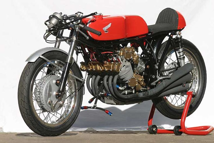 Honda RC166 250cc, Six-Cylinder Grand Prix Motorcycle, shorn of its faring.