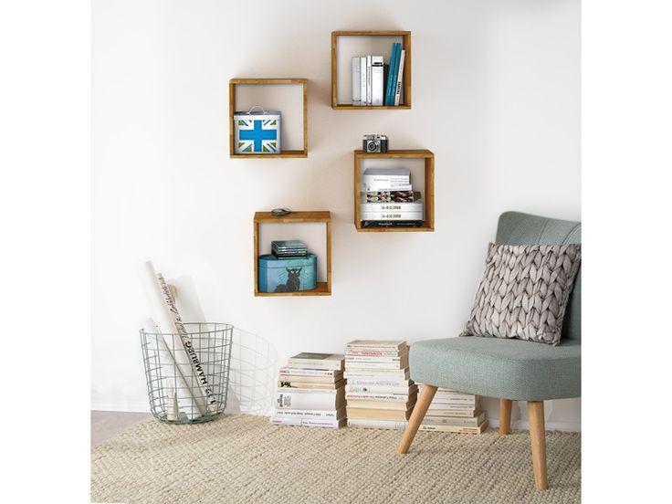 4er Regale Würfelregal Wandregal COMFORT aus Eiche massiv, geölt für Ihr Wohnzimmer - Bestellen Sie Möbel versandkostenfrei online auf Loft24.de