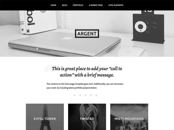 Argent — Free WordPress Themes
