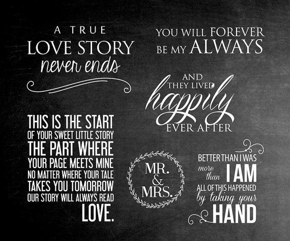6 Word Overlays - Love Wedding Phrases Photo Overlay - Text Photo Overlay - Wedding Photography Quote Photo Words Phrase INSTANT DOWNLOAD