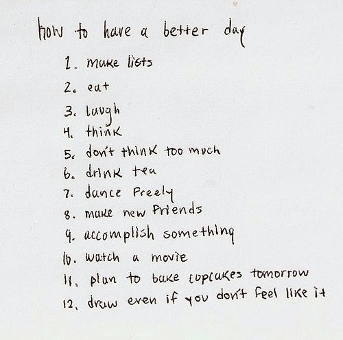 how to have a better day | restart my heart