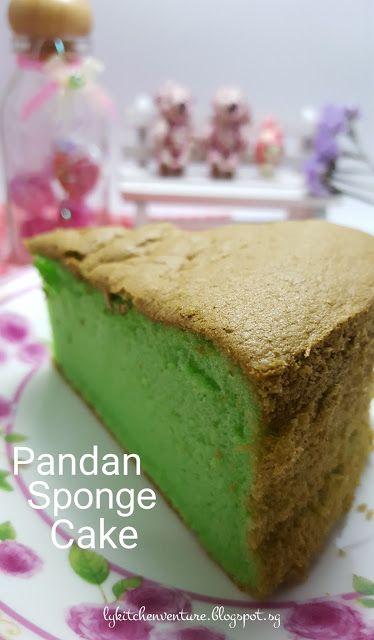 LY's Kitchen Ventures: Pandan Sponge Cake (Cooked Dough Method)