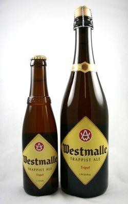 Westmalle Tripel Trappist Ale 11.2 oz & 25.4 oz