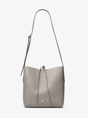 01cab52c2526 Junie Large Pebbled Leather Messenger Michael Kors
