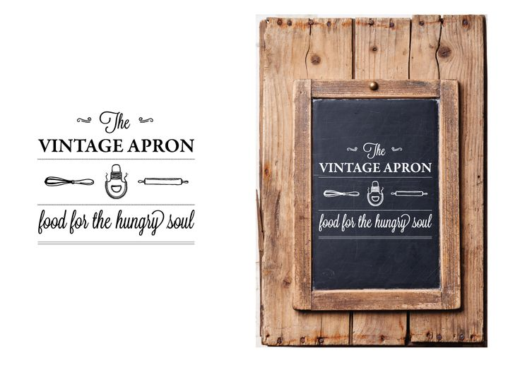 Logo design for the Vintage Apron cafe... food for the hungry soul