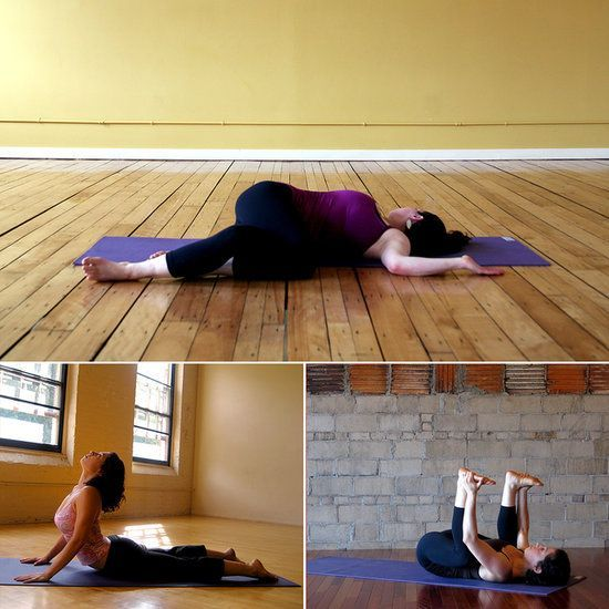 My Aching Back! Yoga Sequence to Offer Relief Whether you woke up with a tight lower back, your desk job has you aching, or you overdid it at the gym, here is a relaxing yoga sequence designed specifically to stretch your lower back. Since tight hips, hamstrings, and shoulders can often trigger discomfort and pain, this sequence will also lengthen those tension spots. Do this series of yoga poses any time your back needs a little extra love.