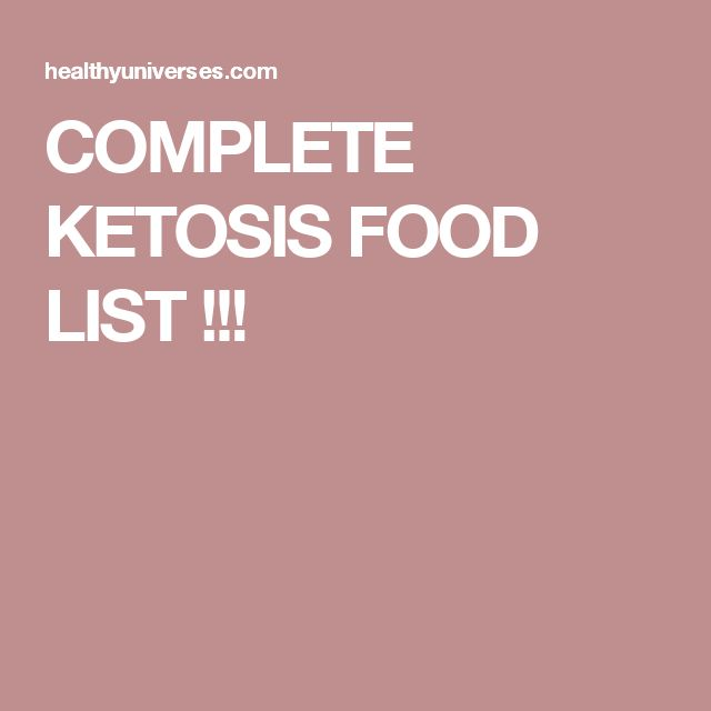 COMPLETE KETOSIS FOOD LIST !!!