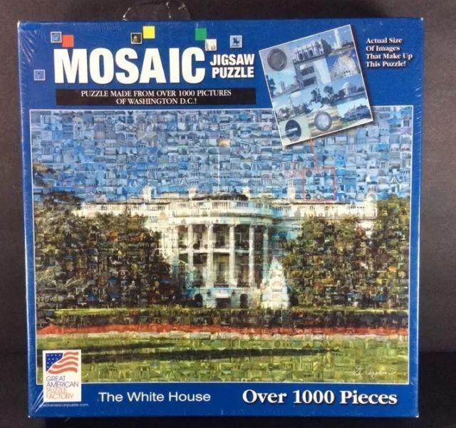 White House Jigsaw Puzzle 1000 Mosaic Pictures Of Washington DC 2003 NEW | eBay