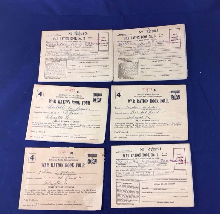 Vintage World War II Ration Books 3 And 4 With Stamps & Holder Lot Of 6    eBay
