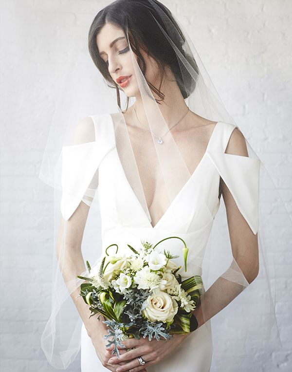 Chic and Sexy Modern Wedding Dress | Bri Johnson Photography | http://heyweddinglady.com/urban-bridal-styled-shoot-where-vintage-meets-modern/