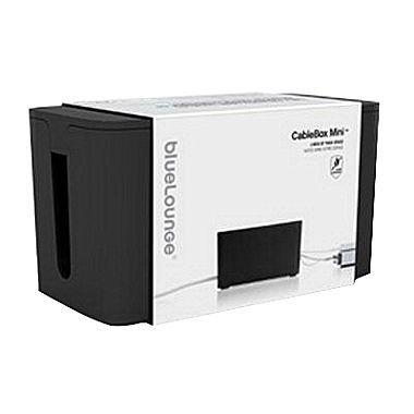 "Bluelounge Mini CableBox, 9 1/4"", Black"