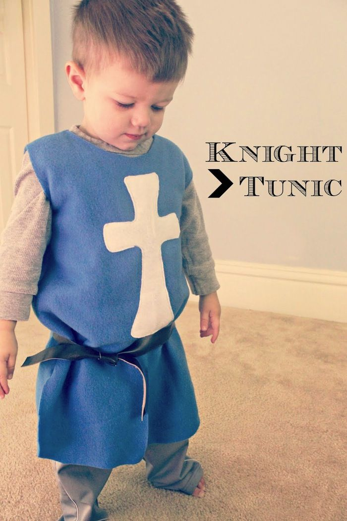 In honor of a little man's birthday, happy birthday Gordon! It only seems right to have a boy-centric tutorial. Not to say there can't be awesome girl knights too. Jennifer from Eat. Sleep. MAKE came up with this cute knight's tunic. It requires little sewing, which makes it a great project for
