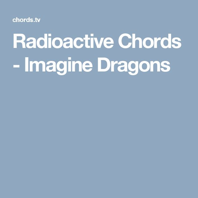 Chords For Warriors Imagine Dragons