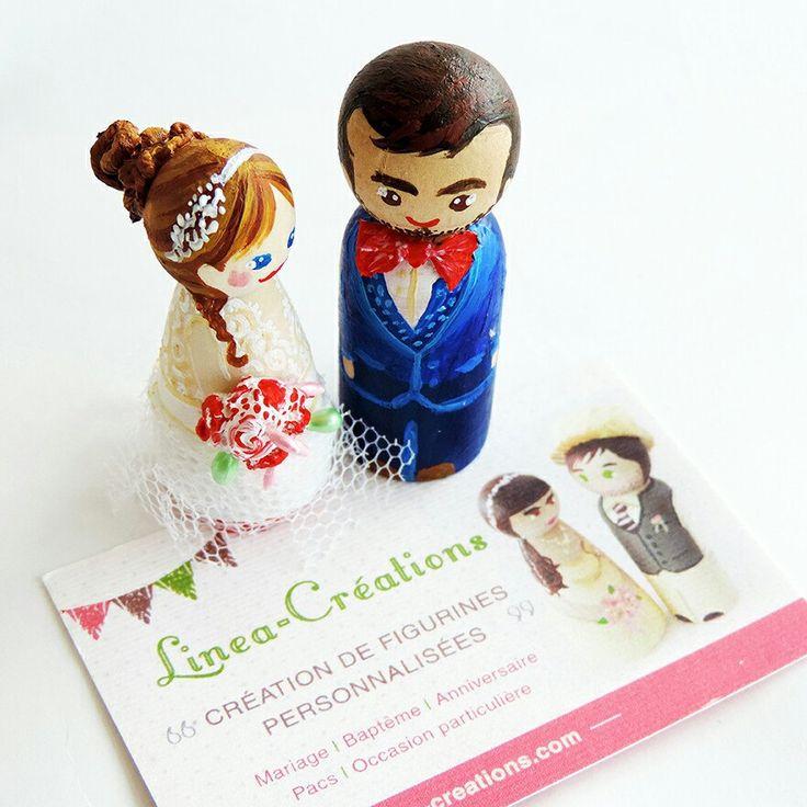 Mon premier couple de petite figurine personnalisée de 5 cm pour un mariage s'en vont aujourd'hui rejoindre leur propriétaires