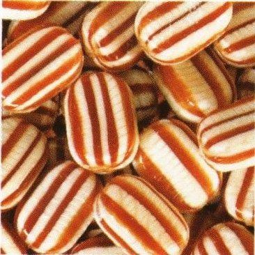 Mint Humbugs are just like Everton Mints but the stripes are brown instead of black.  Mint Humbugs are a traditional minty boiled sweet with a chewy toffee centre.