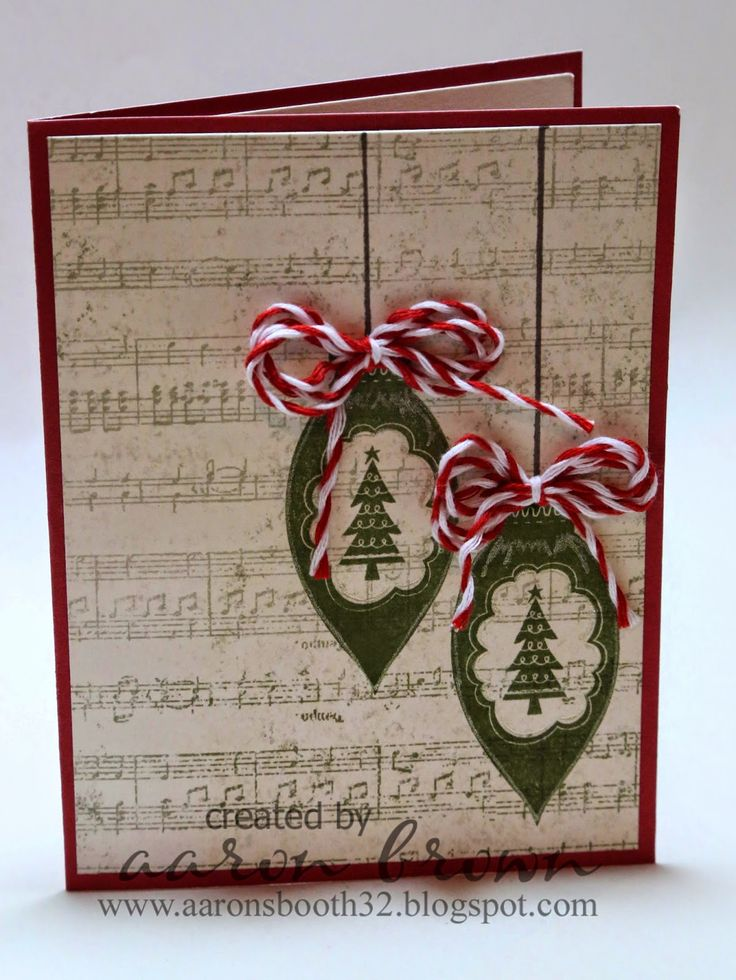 Booth #32: Simple Ornament Card