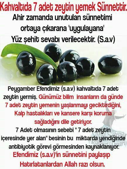 7 zeytin 1 incir