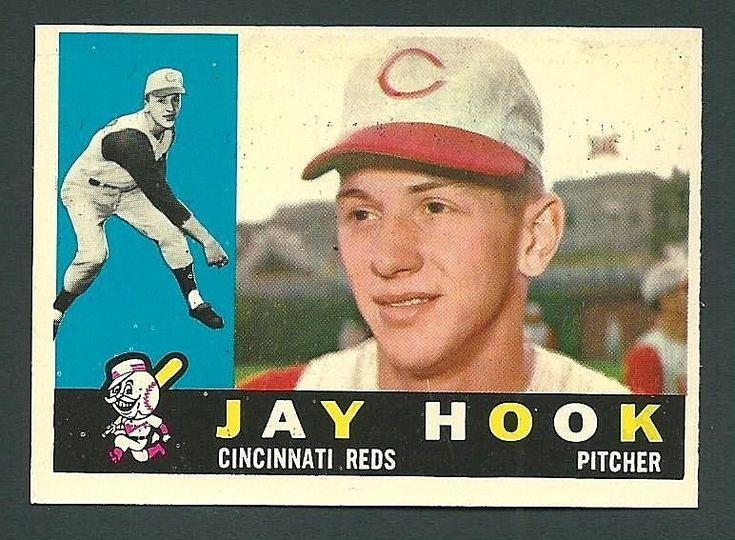 Jay Hook Cincinnati Reds 1960 Topps Card #187 #CincinnatiReds