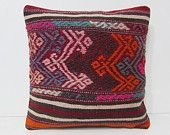 kilim rug pillow 18x18 antique pillow cover ethnic cushion oversized couch pillow indie throw pillow kilim throw pillow burlap cushion 28323