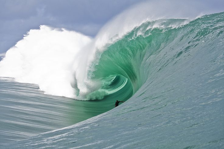 Incredible shot of a Tahitian barrel. This is even better full screen.