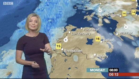 BBC weather: Sarah Keith-Lucas flaunts sensational curves in skintight dress for forecast - https://buzznews.co.uk/bbc-weather-sarah-keith-lucas-flaunts-sensational-curves-in-skintight-dress-for-forecast -
