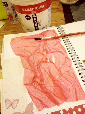 Ria Nirwana's Home: Begin the second SMASH album- background tutorial regarding tissue paper, gesso, etc