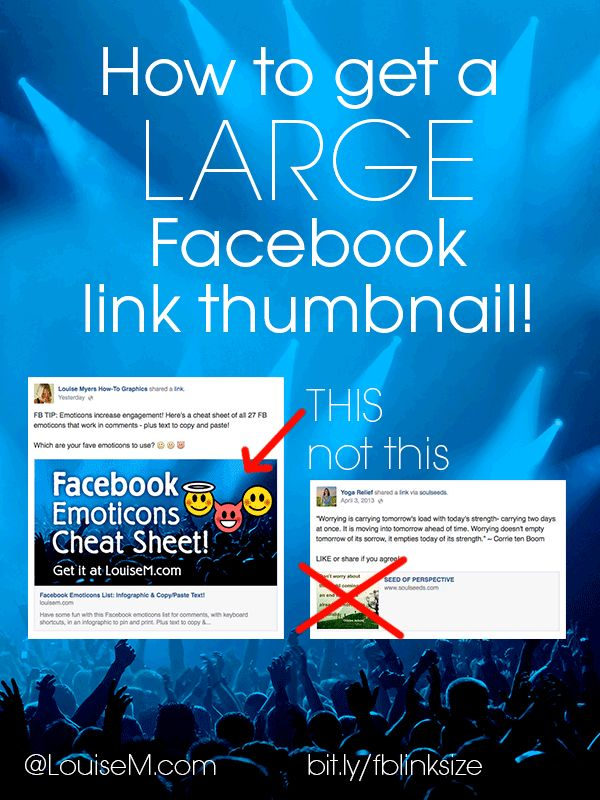 The Secret to Getting a Large Facebook Link Thumbnail   LouiseM