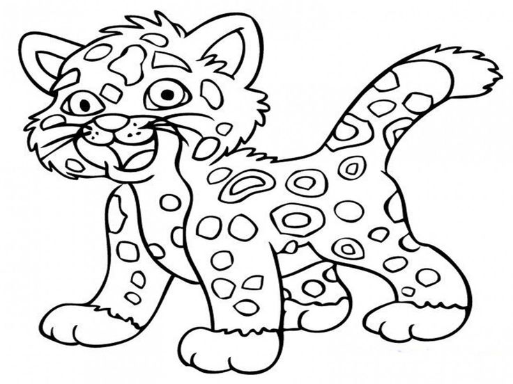 Free Download Jaguar Animal Realistic Coloring Pages
