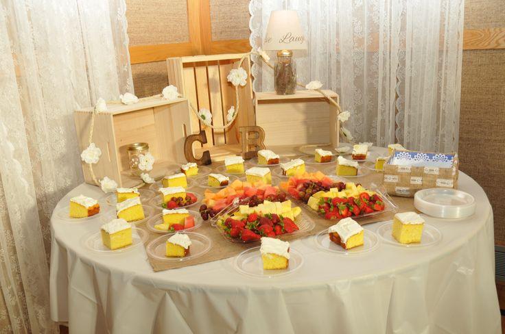 dessert/ fruit table filled