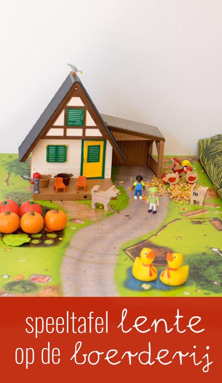 Door een speeltafel te maken gaan kinderen op een andere manier met de lente aan de slag. Ik vertel hoe mijn tafel eruit ziet en wat je ervoor nodig hebt!