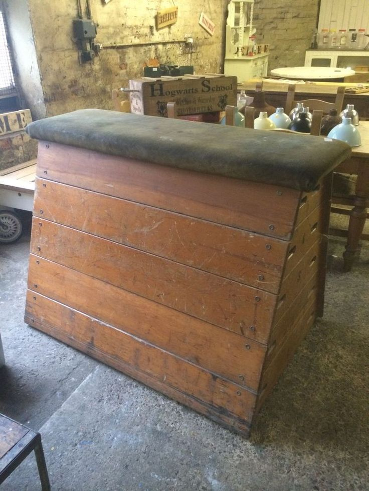 Vintage Old School Pommel Vaulting Box Gym Gymnasium Industrial Chic