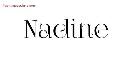 Nadine Vintage Name Tattoo Designs