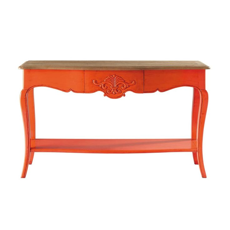 Console orange Haute couture