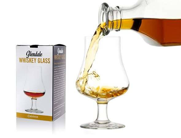 DESTINATION WHISKEY! To unlock the complexity of whiskey... We have all the right glasses and tools from nosing on rocks! Glendale Whiskey Glass   •Tulip-shaped glass perfect for swirling and releasing complexities and nuances of Whiskey   •Short stemmed glass reduces heat transfer from hand   •Specially designed for nosing, made of fine German lead-free crystal    •Individually gift boxed Please visit our website to learn more about this product!
