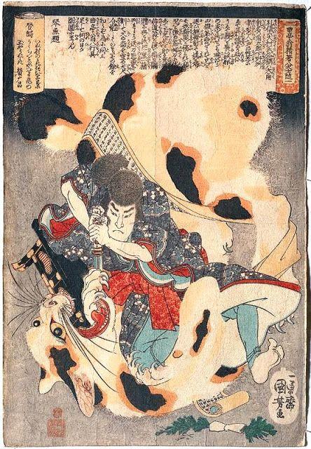 Le «Bakeneko» (化け猫) est une légende du folklore japonais transmise oralement qui serait à l'origine du bobtail japonais. C'est un chat ayant des pouvoirs surnatu…