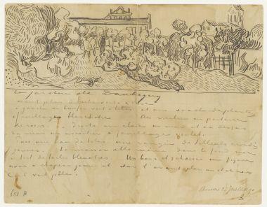 daubignys garden to theo van gogh auvers sur oise wednesday 23 july vincent van gogh letters