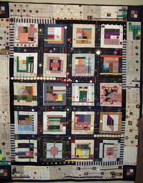 Funky embellished quilt