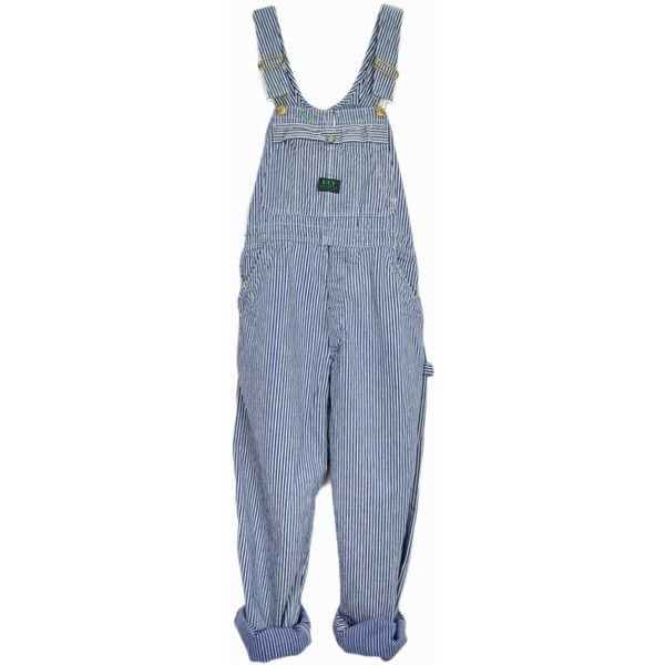 Vintage Striped Denim Overalls Ely Big Buck Overalls Work Overalls... (1.235.560 IDR) ❤ liked on Polyvore featuring jumpsuits