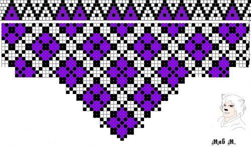Мозаика с бахромой орнаменты +1 (7.04.2014) | biser.info - всё о бисере и бисерном творчестве