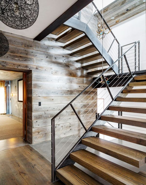 modern mountain house stairwell architecture | coco+kelley