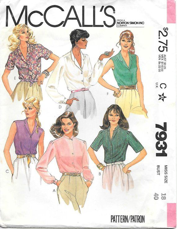 Simplicity Butterick McCall/'s Vogue Pattern Service Sewing Patterns Cut Uncut