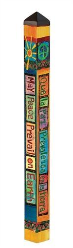 Bright 4' Peace Pole                                                                                                                                                      More