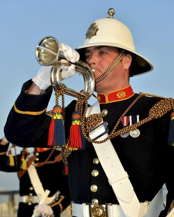 Royal Marine Band Buglar