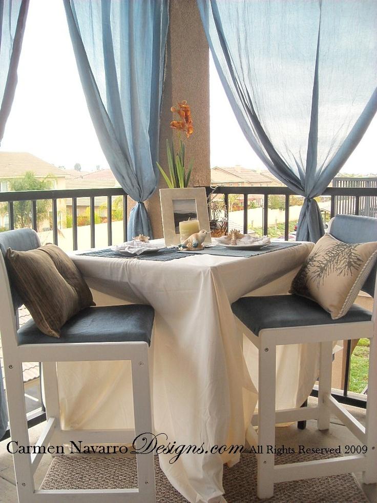 Apartment patio curtain ideas curtain menzilperde net for Apartment deck ideas