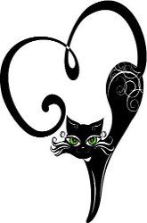 Black Cat Tattoo for you @Crystal Chou Childers