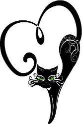 Black Cat Tattoo for you @Crystal Chou Chou Childers
