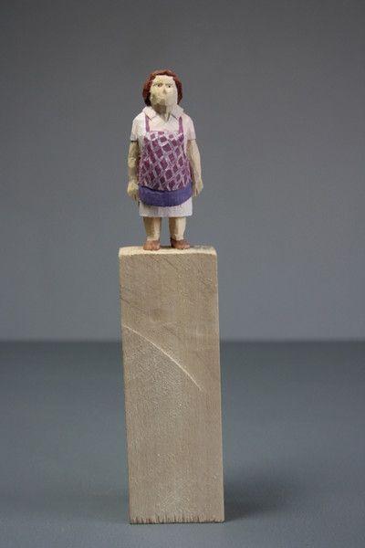 Holz Skulptur, Messerschnitz Figur von schnitzstelle auf DaWanda.com