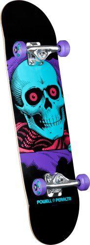 Powell-Peralta Blacklight Ripper Complete Skateboard, Purple Powell-Peralta