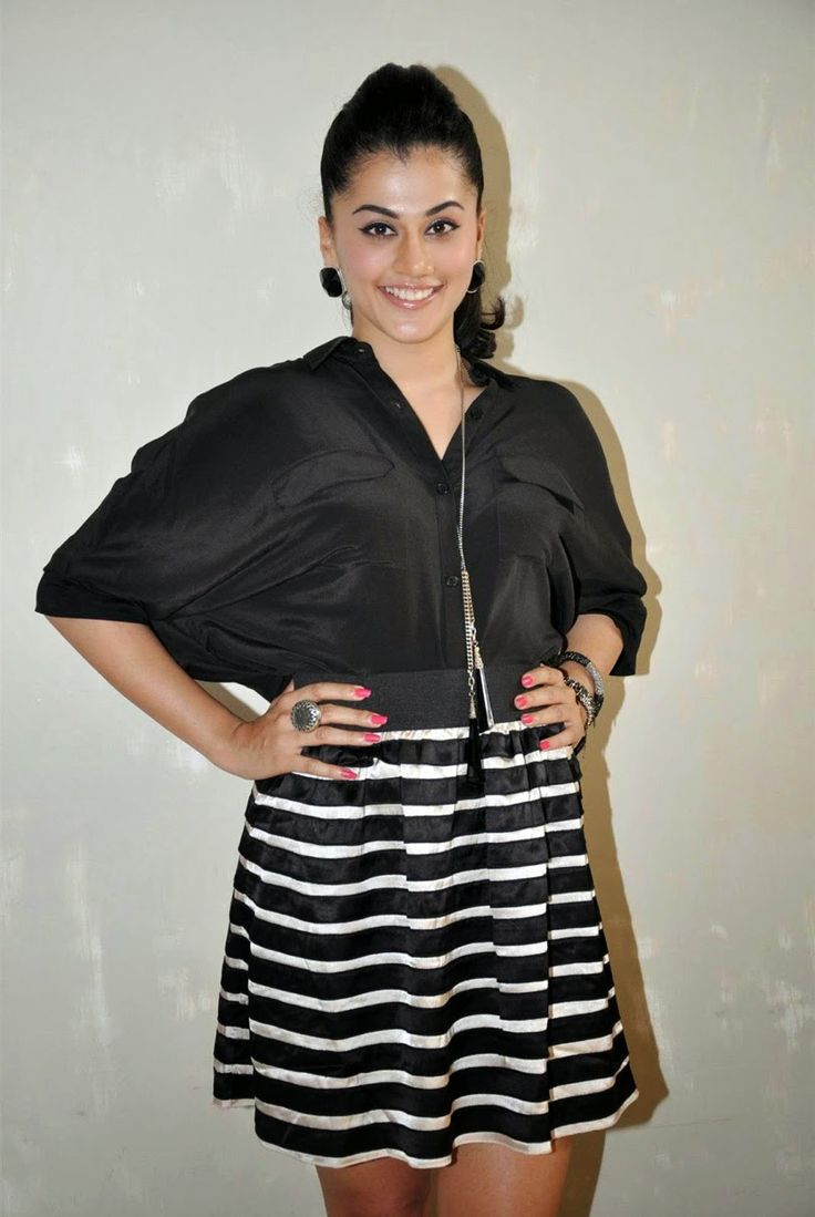 Taapsee Hot Legs Show Photos In Black Dress  actress Taapsee Pannu