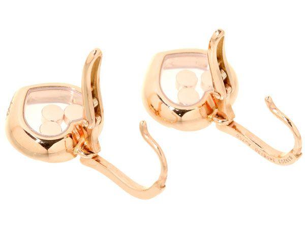 Gallery Rare | Rakuten Global Market: 쇼파드 해피 싱 곡선 3P ムービングダイヤ 다이아몬드 K18PG 핑크 골드 Chopard Happy Curves 귀걸이 쥬얼리 다이아몬드 로즈 골드